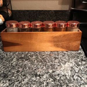 Seasoning containers and holder